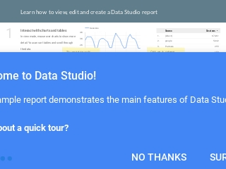 Default thumbnail for Welcome to Data Studio report